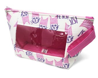 """Handled Window Wedge """"RESIST"""" Cosmetic/Accessory/Project Bag"""
