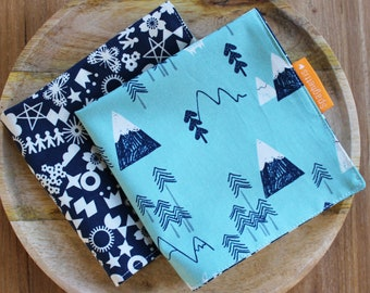 cloth napkin ( 1 ) - alpine forest - reusable cloth napkins for dinner or lunch - sustainable living