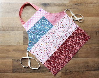 reversible toddler girl apron - Rosie