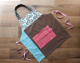 reversible toddler girl apron - Agathe