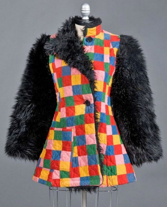 Rare Vintage Betsey Johnson 1971 Alley Cat Coat