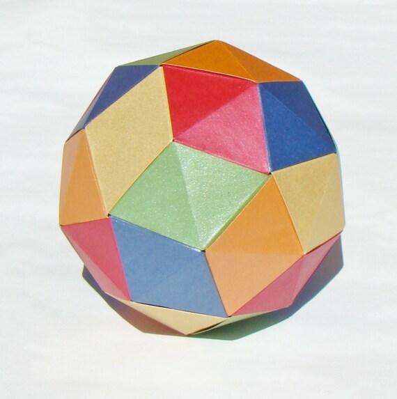 Origami Diagrams Pentakis Dodecahedron Etsy