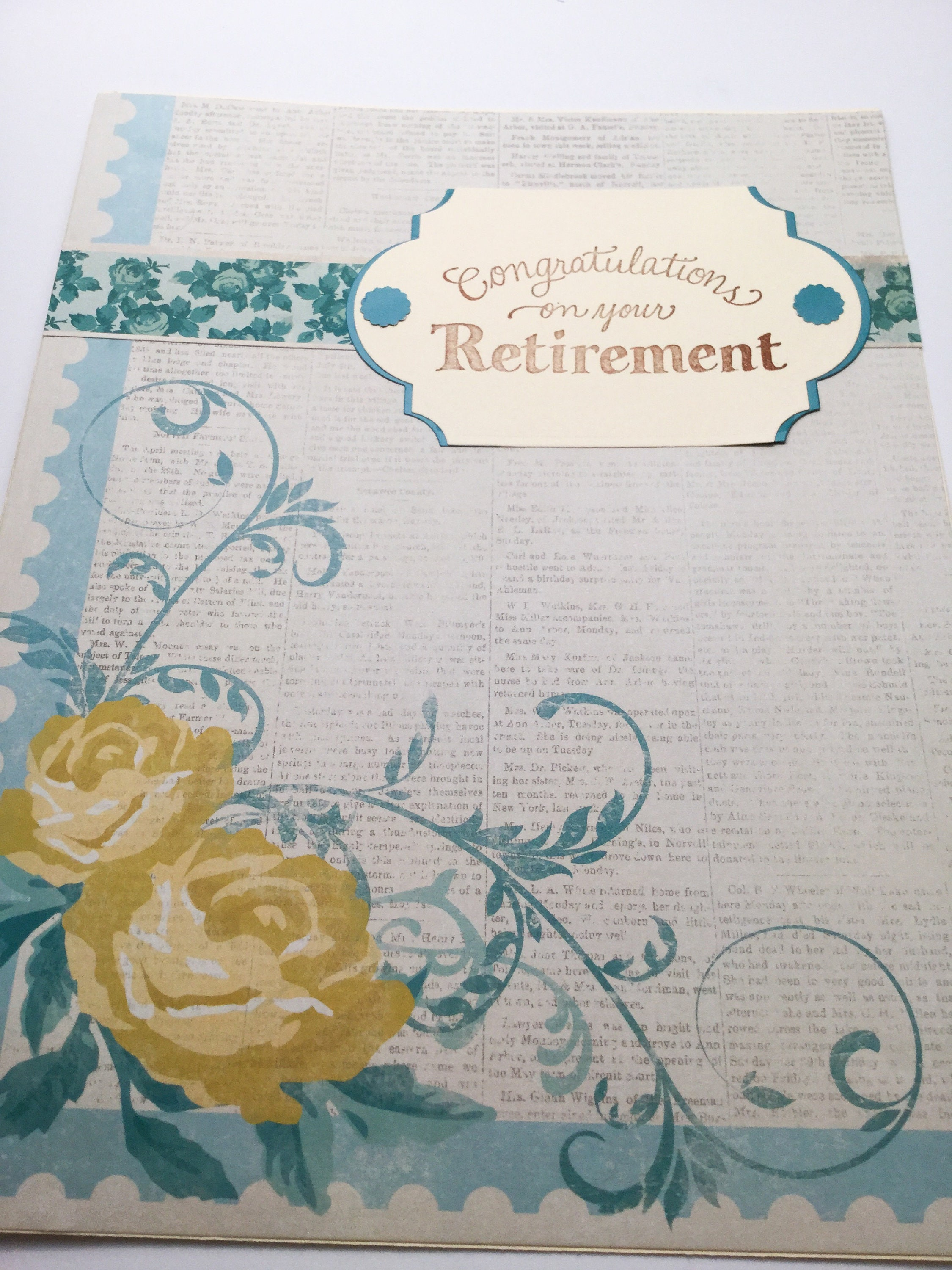 Giant From All Of Us Retirement Card Large Silver Etsy