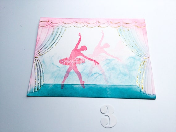 Hand Stamped Cards Cards For Dancer Dancing Sillhouette Etsy