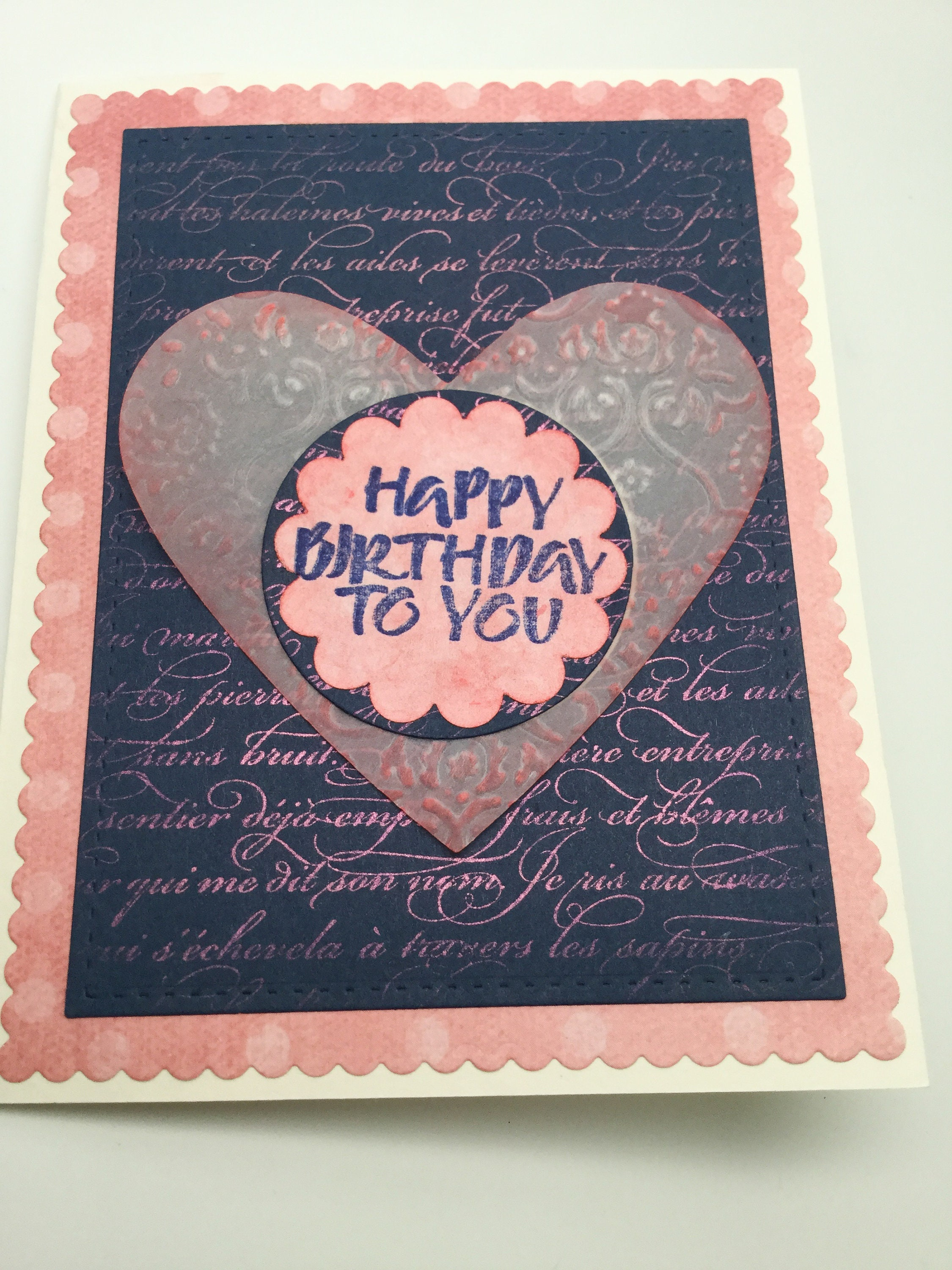 Hand Made Birthday Cards Masculine French Words