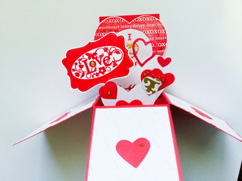 Valentines Pop Up Card Fancy Love You Box