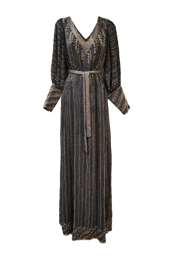1980's does 1920's Beaded Silk Gown