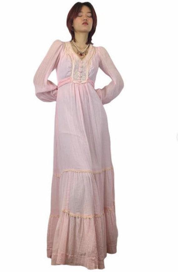 Gunne Sax Style Cotton Prairie Dress