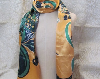 16 Inch  Affordable Scarves!! Beautiful Solid Yellow Small Silk Pocket Square Scarf