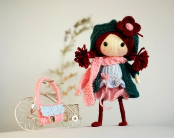 Winter Berry. The Doll PDF knitting pattern. Cute doll pattern
