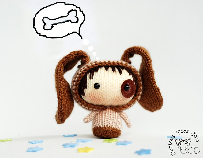 Small Dog Doll pdf knitting pattern. Tanoshi series toy ...
