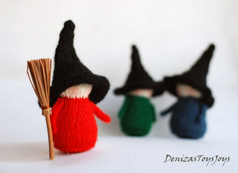 Waldorf Halloween Witches Babies  pdf knitting patterns. image 0