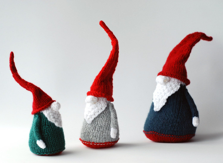 3 Gnomes PDF knitting patterns. Christmas Ornament. New Year ...