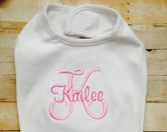 Personalized, Embroidered Bib,Baby Shower Gift, Unique Shower Gifts, Embroidered Gifts