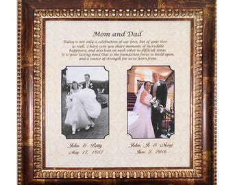 Mom And Dad Wedding Gift Bride Gift To Parents Groom S Etsy