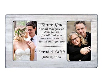 Thank you gift for parents Wedding frame Parents of the groom Parents of the bride Personalized picture frame gift Flowers in December