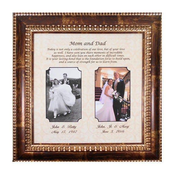 Wedding Gift Parents Bride Gift to Parents Groom Wedding | Etsy