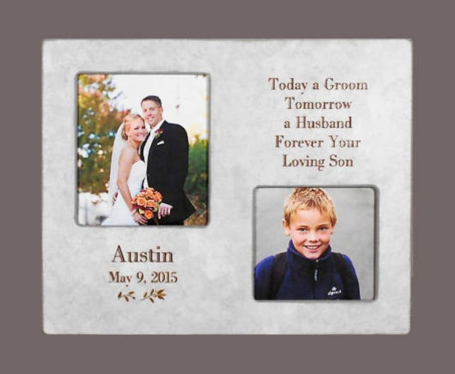 WEDDING GIFT PARENT-Groom Gift to Mom and Dad-Personalized   Etsy
