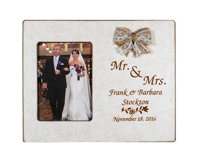 Wedding Gift Couples Mr and Mrs Couples Names Personalized Picture Frame  Parent Bride Wedding 8x10 Overall Size