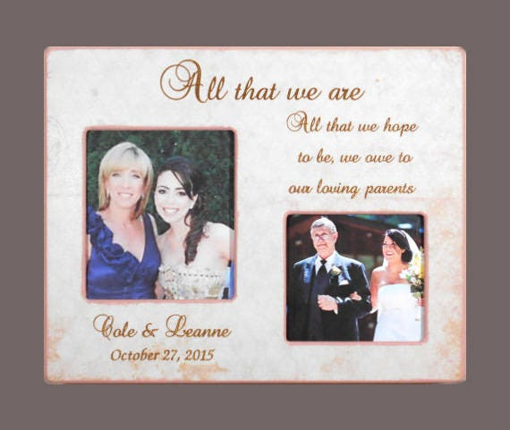GIFT To PARENTS Wedding Frame forParents Personalized   Etsy