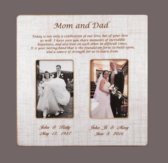 In laws wedding gift parents gift bride gift to parents groom in laws wedding gift parents gift bride gift to parents groom wedding gift to mom and dad wedding personalized picture frame 12x12overall from junglespirit Images