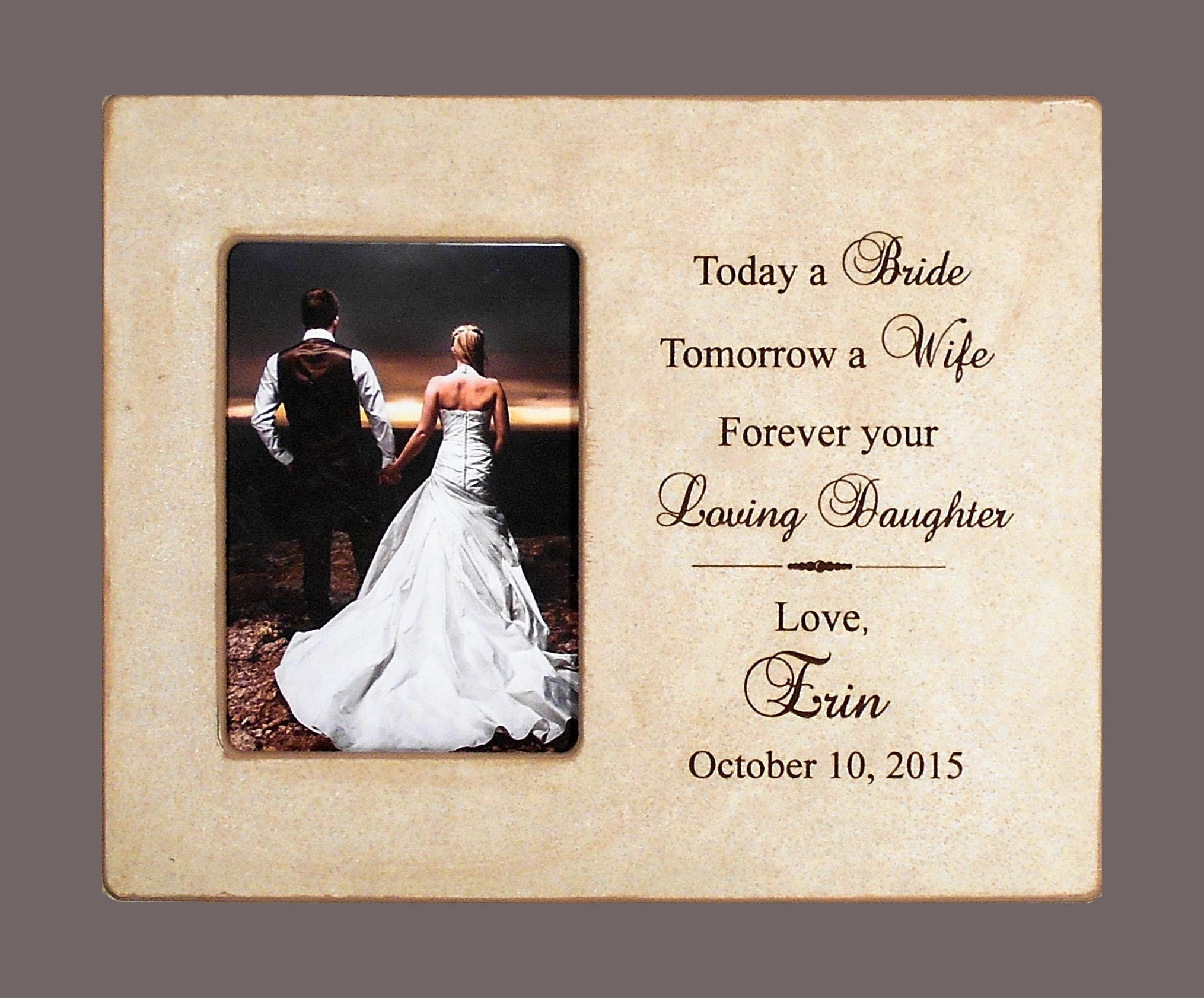 Daughter Wedding Gift: Bride Wedding Gift-Daughter Gift To Dad-Gift To Mom-Gift