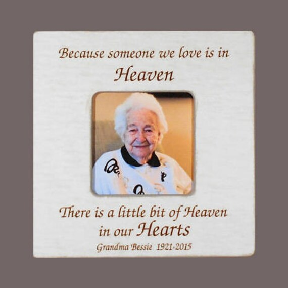 GRANDMOTHER Remembrance Frame Grandmother Bereavement Frame | Etsy