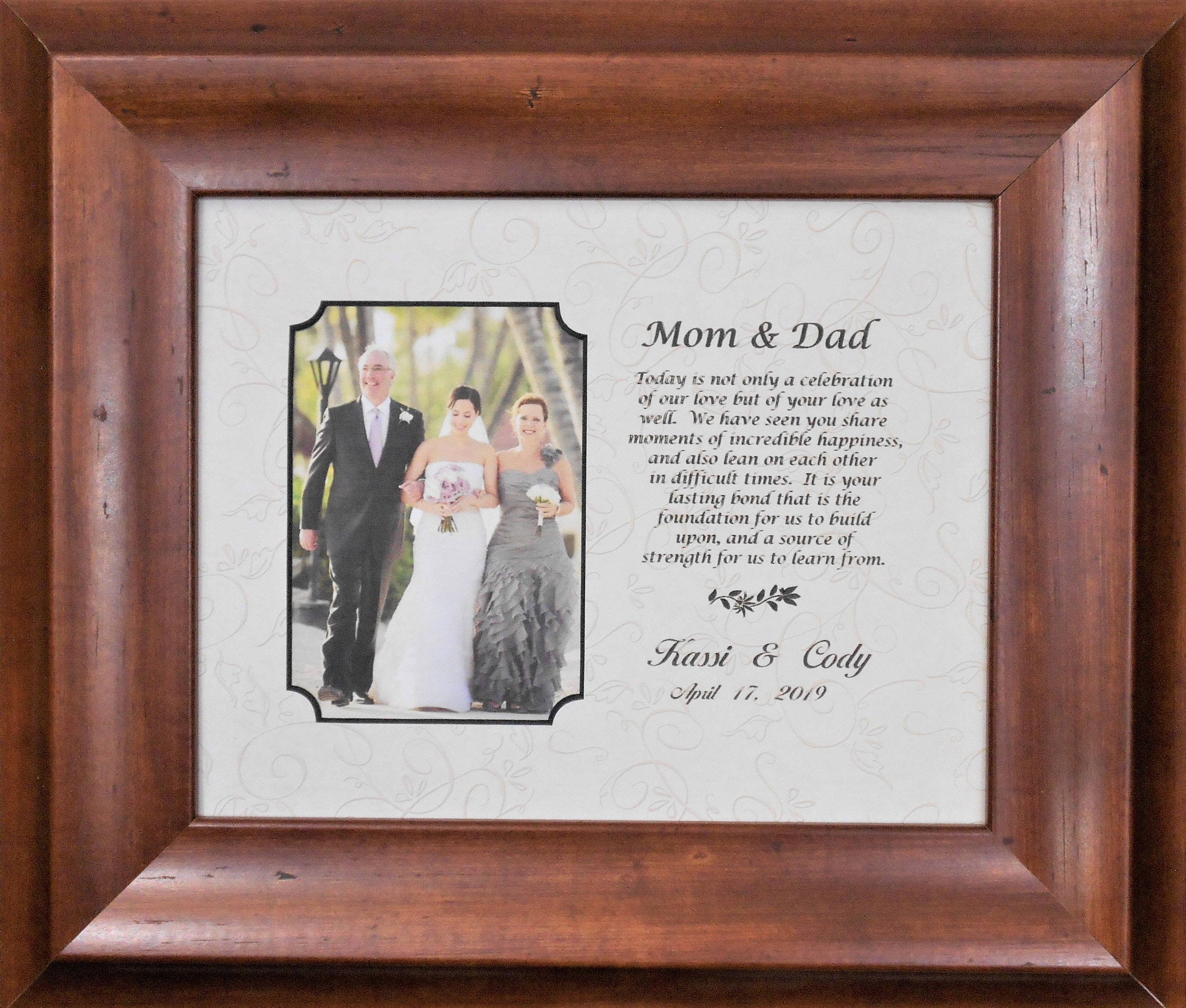 Personalised Wedding Day Photo Frame 8x10 Gift Bride Groom
