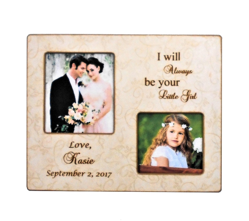 Bride Gift Dad Personalized Custom Bride Gift-Wedding Gift 8x10 Overall Size WEDDING GIFT Dad-Bride Gift to Mom-Mother of the Bride Gift