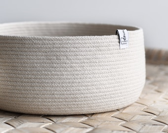 Large rope basket - simple, clean lines with slight curve in side