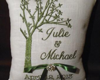 Tree of Life Ring Bearer Pillow (RB141)