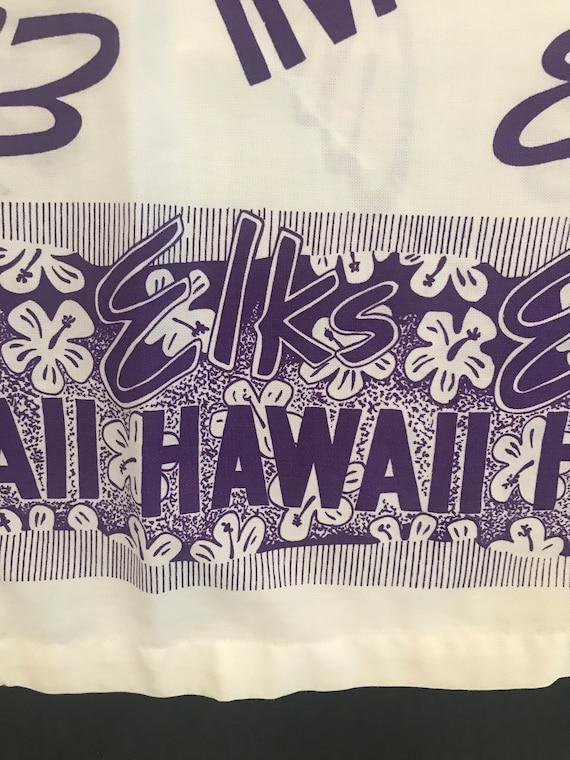 Guy Romo Sportswear Elks Aloha Hawaii  Batik Purpl