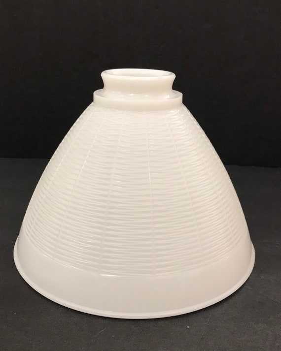 Vintage Large White Milk Glass Lamp Shade Stiffel Floor Lamp Diffuser Globe Upcyclethat