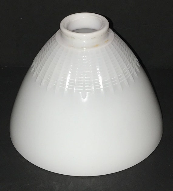 Vintage White Milk Glass Lamp Shade Stiffel Floor Lamp Diffuser Globe Upcyclethat