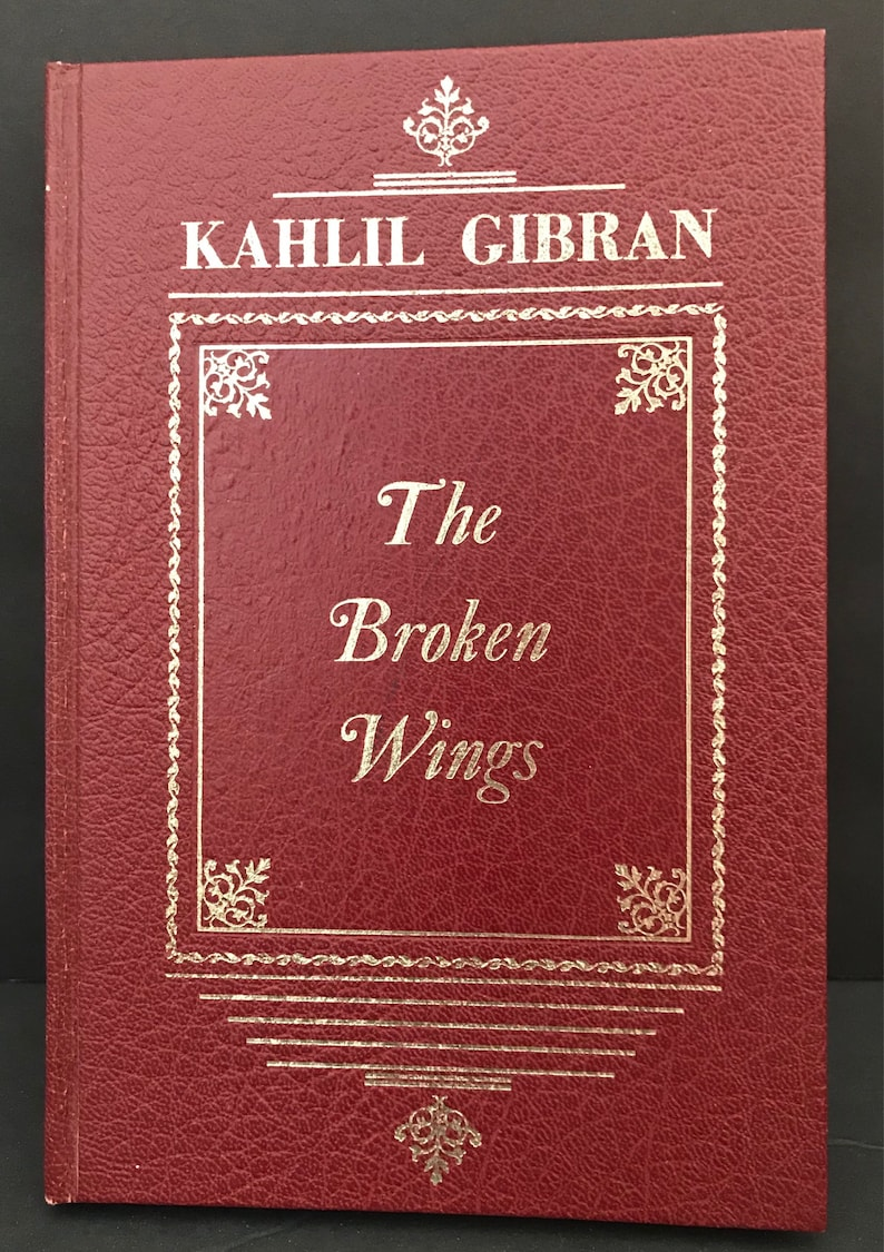 The Broken Wings by Kahlil Gibran 1957 Hardcover Book Arabic Translation