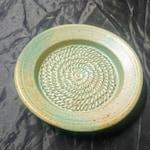 Garlic grater plate, malachite green