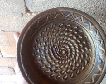 Garlic grater plate, Sandstone Brown