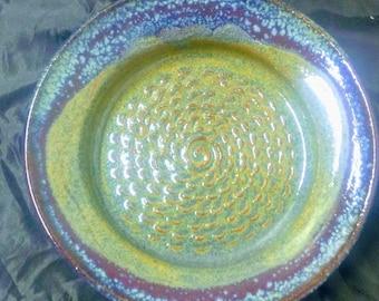 Garlic grater plate Azurite blue