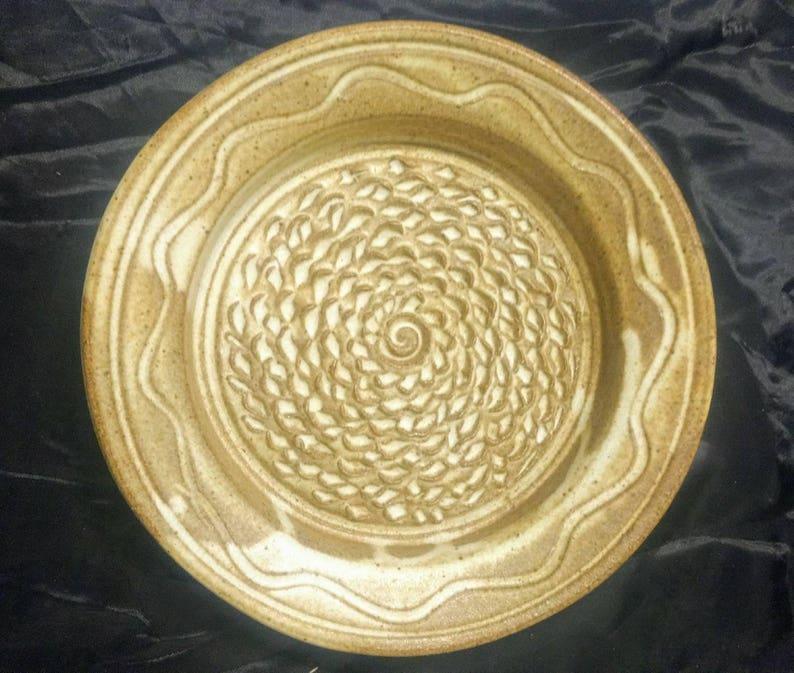 Garlic grater plate Sandstone Brown image 0