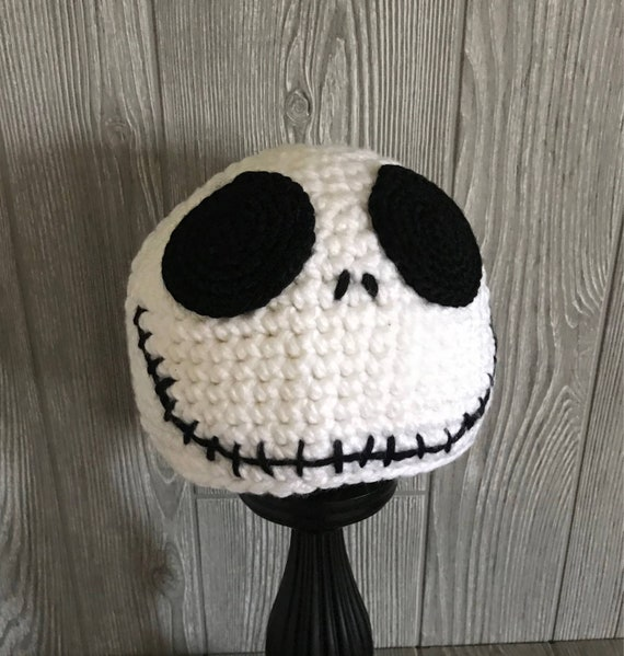 Adult Jack Skellington Nightmare Before Christmas Crochet Hat Etsy
