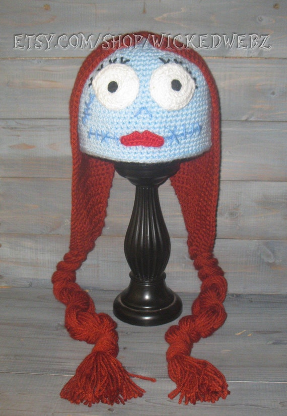 Adult Sally Nightmare Before Christmas Crochet Hat Jack Etsy