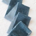Dusty Blue Velvet Ribbon; Silk; Bridal Bouquet, invitations, favors; hand dyed; hand ripped; wedding photography styling;