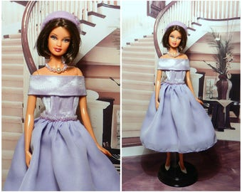 Evening dress for barbie doll, barbie doll clothes, barbie outfit