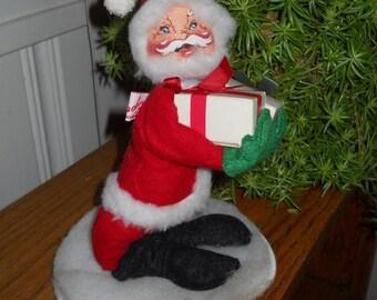88b6e744ed808 1991 Annalee Mobilitee Santa Claus Bendable Doll Anna Lee Presents