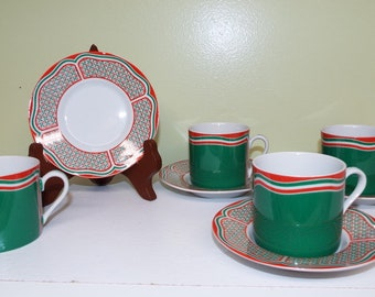 Vintage Dishes Taste Seller Sigma Dresser Dishes Ring Dish Red /& White Dishes Love Dishes Coasters Made in  Japan