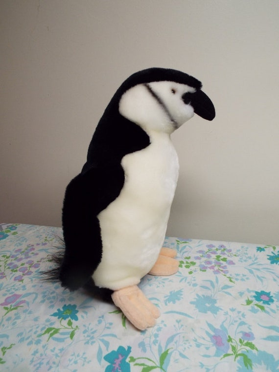 Large Vintage Plush Penguin Newport Aquarium Stuffed Animal Etsy