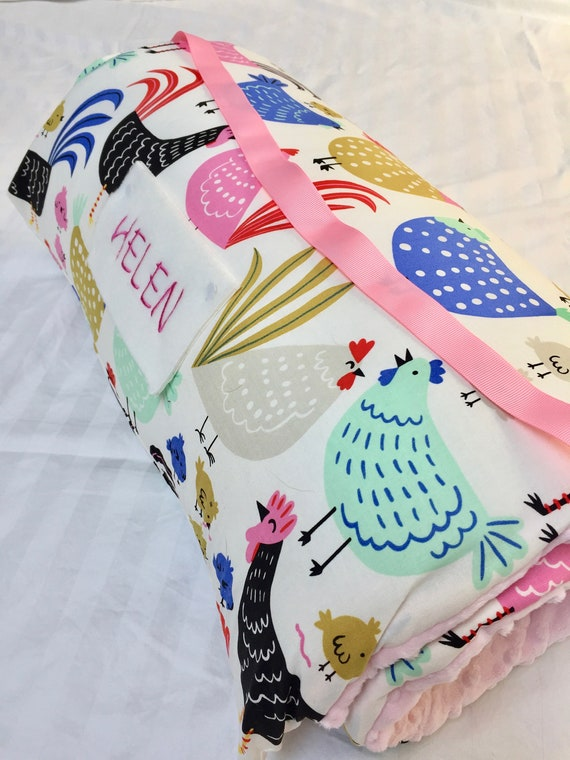 Nap Mat With Pillow Kindermat Cover Blanket Chickens