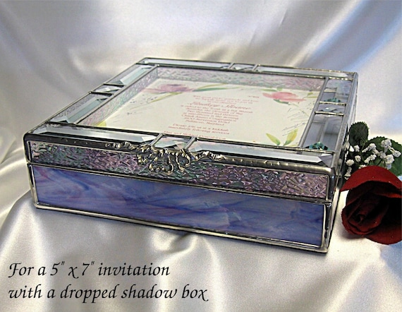 Gift Box Wedding Invitations: Custom Wedding Invitation 5x7 Keepsake Gift Box In