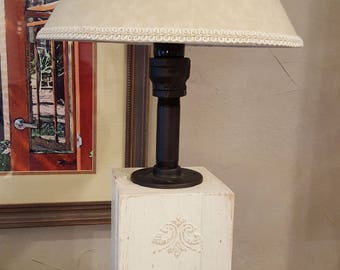 Ivory Rustic Farmhouse Table Lamp 22 Tall Cottage Industrial Desk Or Dresser Lamps And Lighting