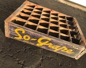 Very Rare Vintage 1940 39 s O So Grape Soda Wood Crate